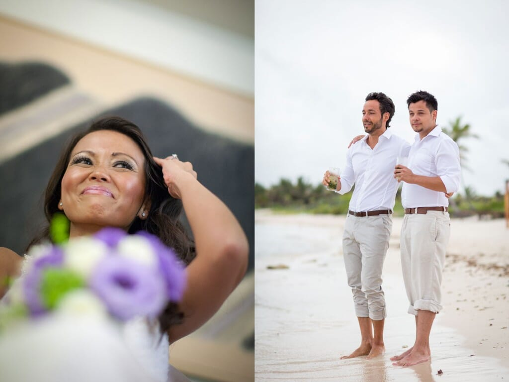 Dreams Tulum Beach Wedding - Elaine and Frederick