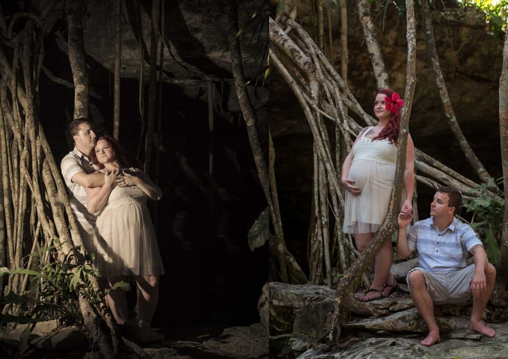 Maternity Session in Riviera Maya - Ashley and Josh
